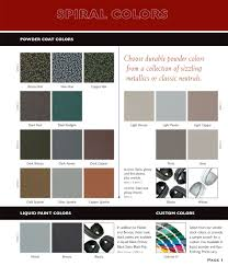 color finish coating options metal spiral stairs