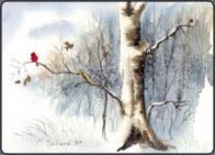 christmas cards in watercolor free watercolor lessons
