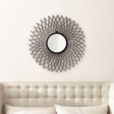 Crate And Barrel Wall Sconce Dahlia Round Wall Mirror Crate And Barrel