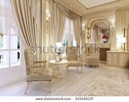 Classic Luxury Interior Design Interior Design Lounge Area Fireplace Luxurious Stock Illustration