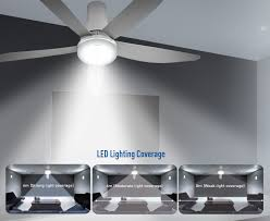 5 blade ceiling fan with light brilliant tmph44bnk5 44 ceiling fan with blades and led light kit