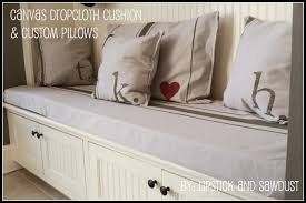 Slipcovers From Drop Cloths Lipstick And Sawdust Canvas Drop Cloth Cushion U0026 Custom Pillows