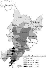 Shenyang China Map by Measuring The Sustainable Urbanization Potential Of Cities In
