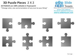 3d puzzle pieces 2 x2 powerpoint presentation slides ppt templates