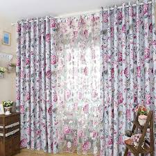 Purple Floral Curtains Purple Floral Polyester Bedroom Print High Quality Curtains
