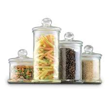 anchor hocking square glass storage jar 64 oz kitchen canisters