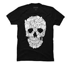 design by humans sketchy cat skull mens graphi on t shirt design