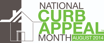 garage door décor during national curb appeal month