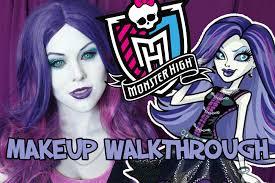 Halloween Monster High Makeup by Spectra Vondergeist Monster High Makeup Walkthrough Youtube