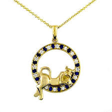 sapphire necklace yellow gold images Penn state necklaces and psu pendants jpg