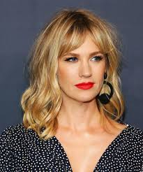 low manance hair cuts with bangs for long hair curtain bangs celebrity hairstyle trend kirsten dunst