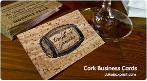 Print On Business Cards Cork Business Cards From Jukebox Print