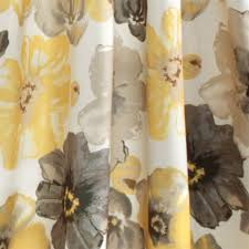 half moon floral pattern window curtain in yellow set of 2 52