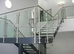 stainless steel stair glass balcony railing for staircase outdoor