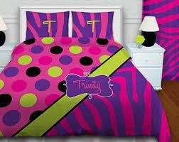 Zebra Print Bedroom Sets Girls Zebra Print Bedding Paris Theme Bedding Personalized
