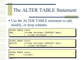 Alter Table Drop Column Database Systems And Design Ppt Download