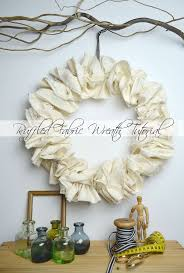 best 25 fabric wreath tutorial ideas on diy wreath