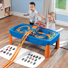 step 2 plastic train table step2 wheels car and track play table toys r us