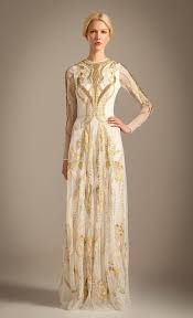 temperley london temperley london aya show dress in gold white gold