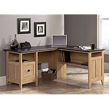 Sauder Registry Row Desk Amazon Com Sauder August Hill L Shaped Desk Dover Oak Finish