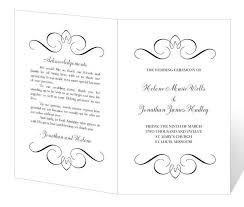 Simple Wedding Program Templates Free Wedding Templates For Word Nfgaccountability Com