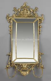Unique Wall Mirrors by European Style Oval Bronze Wall Mirror Unique Design Brass Art