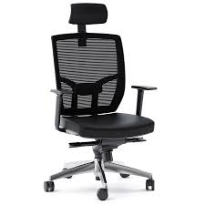 Leather Office Chair Tc 223 Black Leather Modern Office Chair By Bdi Eurway