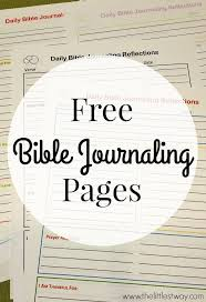 free bible journaling printables free bible daily reflections