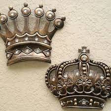 Metal Crown Wall Decor New Gold Art Royalty From King Queen