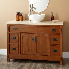 Bathroom Cabinets For Bowl Sinks Bathroom Brown Wooden Bathroom Vanities With Curvy White Bowl