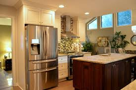 Antique White Cabinets With White Appliances by York Antique White And Chocolate Cabinets Mixed Glass Mosaic