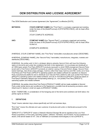licensing agreement template free sample software license agreement template