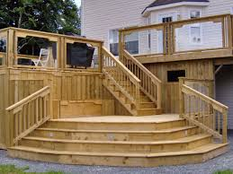 Decking Kits With Handrails Deck Interesting Lowes Deck Planner For Outdoor Decoration Ideas