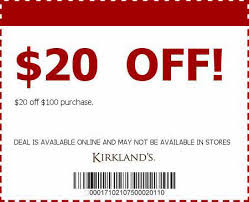 Kirkland Home Decor Coupons Kirklands Coupons 20 Off Purchase Home Accessories With Lower