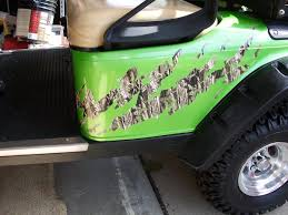 Golf Cart Flags Golf Cart Full Color Ripped Splash Mossy Oak Camo Graphics Set