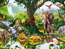 1024x768 jungle animals seven desktop pc and mac wallpaper