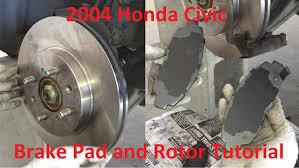 2003 honda civic brake pads tutorial replace 2004 honda civic brake pads and rotors