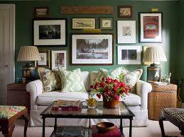 ashley whittaker design chic living room with green walls paint