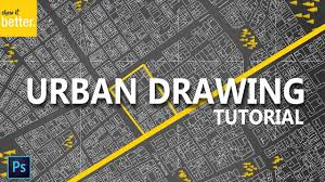 urban site plan tutorial dark background photoshop drawing