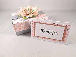 mini thank you cards note cards boxed gold pink glitter