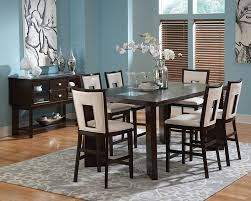 glass counter height table sets dallas designer furniture delano pub table set with cracked glass