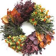 autumn wreath autumn myrtle wreath with burlap bow the wreath depot