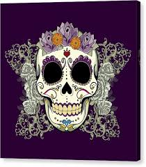 sugar skull canvas prints america