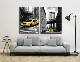 new york home decor stores home decor modern canvas painting new york city pictures black and