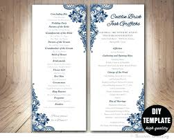 paddle fan program template template program template wedding