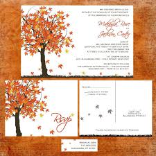 autumn wedding invitations fall in wedding invitation suite with rsvp postcards and
