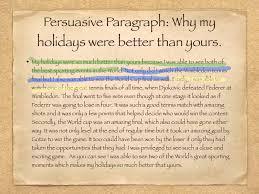 persuasive paragraph youtube
