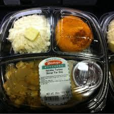 sad turkey dinner for one