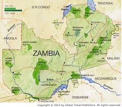 map of zambia zambia is located on the continent of africa it is surrounded by