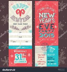 new years eve party invitation handlettering stock vector